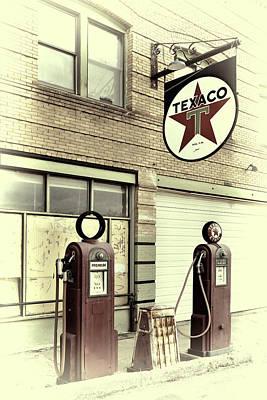 Gas Pumps In Bisbee Arizona Poster by Robert Jensen