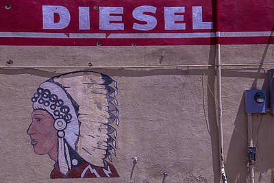 Gas Station Indian Chief Poster