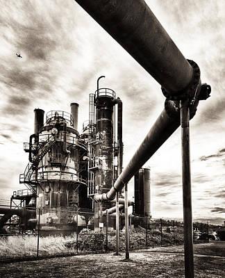 Gas Works Poster by Niels Nielsen