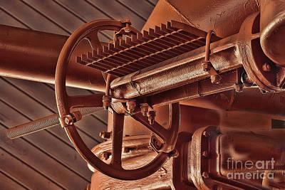 Gas Works Valve Wheel Poster by Noel Zia Lee
