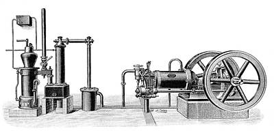 Gasogene And Gas Engine Poster