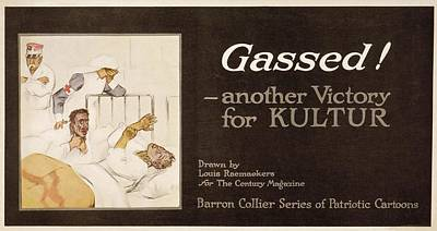 Gassed! World War I Cartoon Poster by Library Of Congress