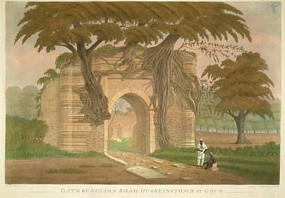 Gate Of Sultan Shah Hussein's Tomb Poster by British Library
