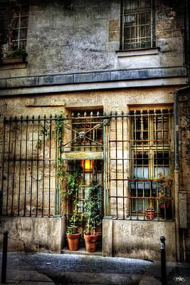 Gated Door Paris France Poster