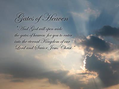 Gates Of Heaven Poster by Lori Deiter