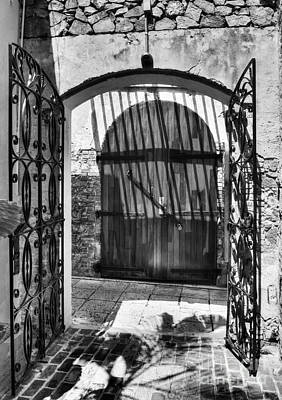 Gates Of Saint Thomas 2 Bw Poster by Mel Steinhauer