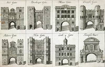 Gates To The City Of London, Artwork Poster by British Library