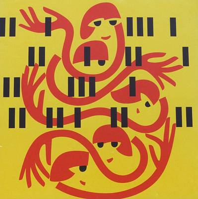 Gathering 2, 1981 Acrylic On Board Poster