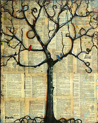 Gathering Place Winter Tree Poster by Blenda Studio