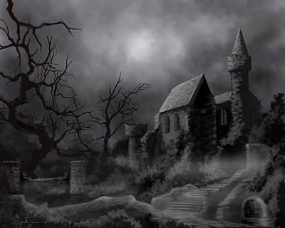 Gathluma's Castle Poster by James Christopher Hill