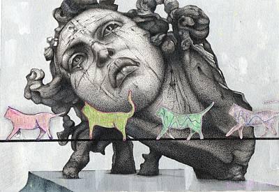 Gato En La Cuerda Floja Poster by Daniel Levy policar