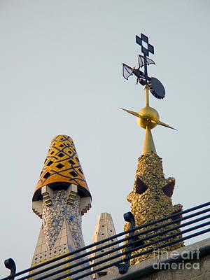 Gaudi Building Detail Poster by Tim Holt