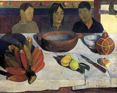 Gauguin, Paul 1848-1903. The Meal  Or Poster by Everett