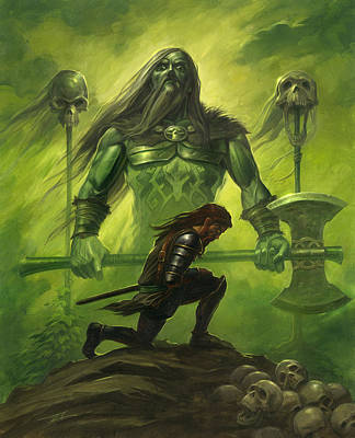 Gawain And The Green Knight Poster by Alan Lathwell