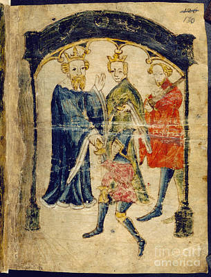 Gawain's Return To Court Poster by British Library