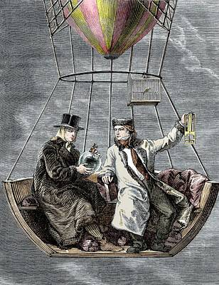 Gay-lussac And Biot Balloon Ascent Poster