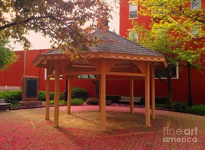Poster featuring the photograph Gazebo In Pink by Becky Lupe