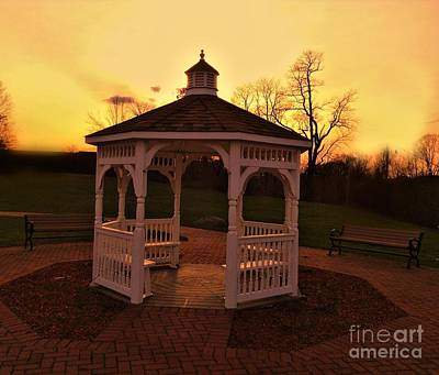 Poster featuring the photograph Gazebo In Sunset by Becky Lupe
