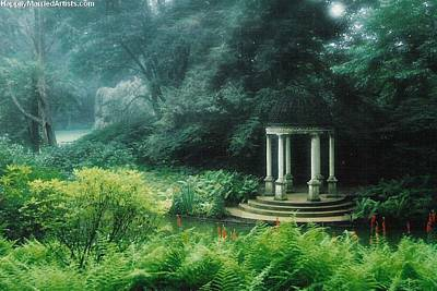 Gazebo Longwood Gardens Poster