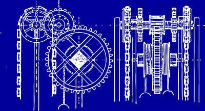 Gears Blueprint Poster