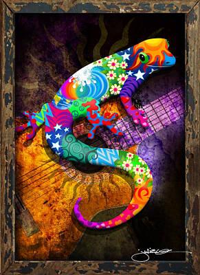 Gecko Guitar Poster