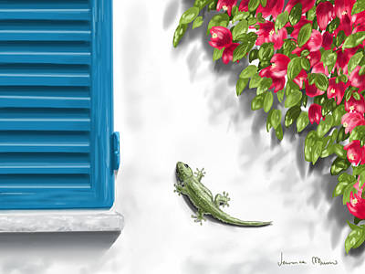 Geco Poster by Veronica Minozzi