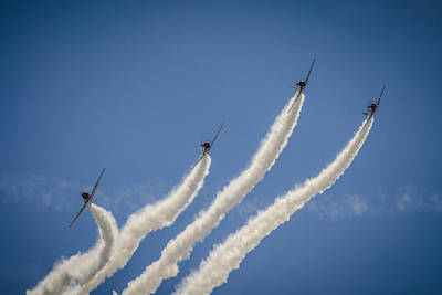 Poster featuring the photograph Geico Sky Typers 2 by Bradley Clay
