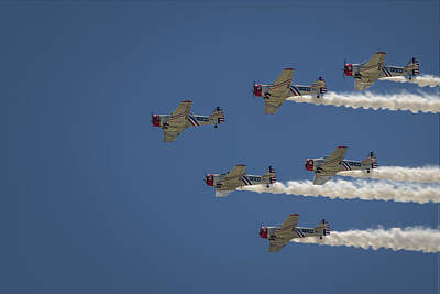 Poster featuring the photograph Geico Sky Typers  by Bradley Clay