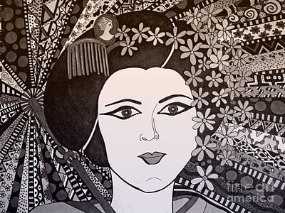 Geisha Girl Bronze Poster