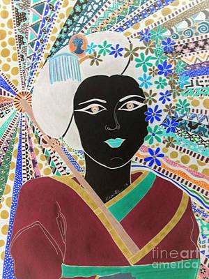 Geisha Girl Magical Portrait Poster