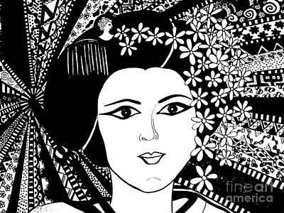 Geisha Girl Screen Print Poster