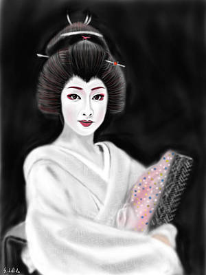 Geisha No.155 Poster by Yoshiyuki Uchida