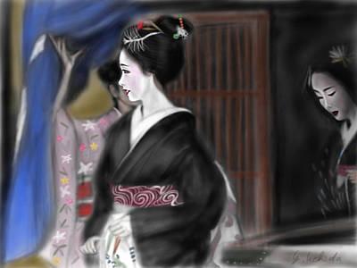 Geisha No.4 Poster by Yoshiyuki Uchida
