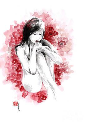 Sakura - Japanese Woman. Poster by Mariusz Szmerdt