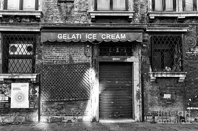 Gelati Ice Cream Poster by John Rizzuto