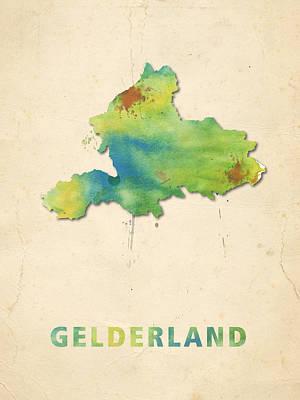 Gelderland Watercolour Map Poster