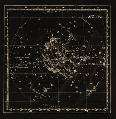 Gemini Constellation, 1829 Poster