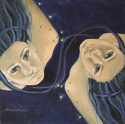 Gemini From Zodiac Series Poster by Dorina  Costras