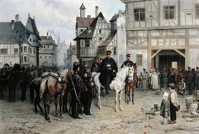 General Blucher 1742-1819 With The Cossacks In Bautzen, 1885 Oil On Canvas Poster by Bogdan Willewalde