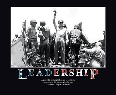 General Douglas Macarthur Leadership Poster