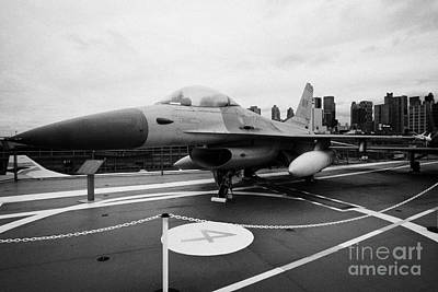 General Dynamics F16 Fighting Falcon On Display On The Flight Deck Of Uss Intrepid Poster by Joe Fox