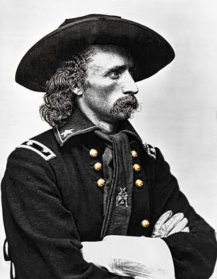 General George Armstrong Custer  Poster by Daniel Hagerman