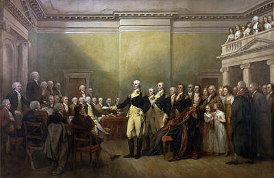 General George Washington Resigning His Commission Poster