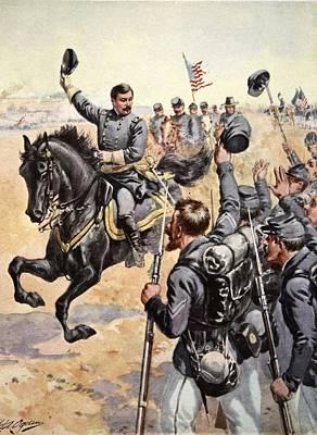 General Mcclellan At The Battle Poster