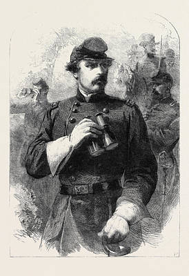 General Mclellan Commander-in-chief Of The Federal Forces Poster by English School