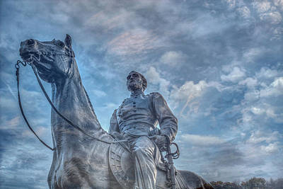 General  Meade Statue At Gettysburg Battlefield Poster