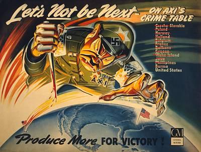 General Motors World War 2 Poster. Lets Poster