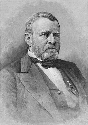 General Ulysses Simpson Grant, Engraved From A Photograph, Illustration From Battles And Leaders Poster by Mathew Brady
