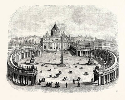 General View Of St. Peters And The Vatican Poster by Italian School
