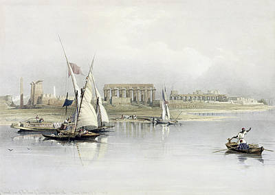 General View Of The Ruins Of Luxor From The Nile Poster by David Roberts
